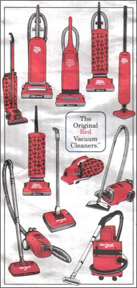 Original Red Vacuum cleaners